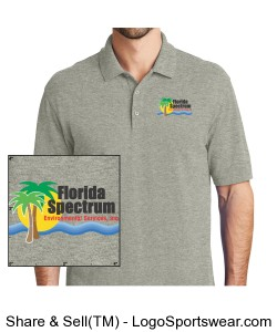 Florida-Spectrum Environmental Printed Logo Men's Polo Design Zoom