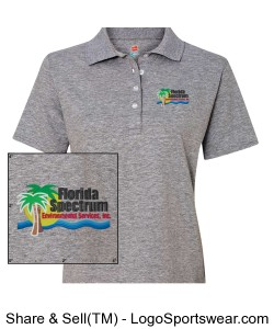 Florida-Spectrum Environmental Embroidered Logo Ladies Polo Design Zoom