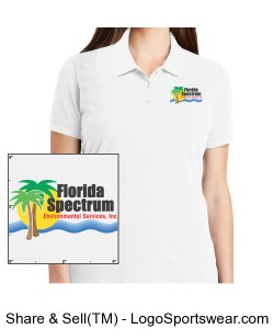 Florida-Spectrum Environmental Printed Logo Ladies Polo Design Zoom