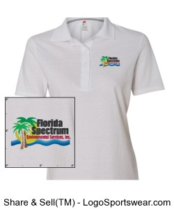 Florida-Spectrum Environmental Embroiderd Ladies Polo Design Zoom