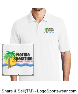 Florida-Spectrum Environmental Printed Logo Men's Polo Shirt Design Zoom