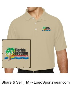 Florida-Spectrum Environmental Embroidered Logo Mens Polo Design Zoom